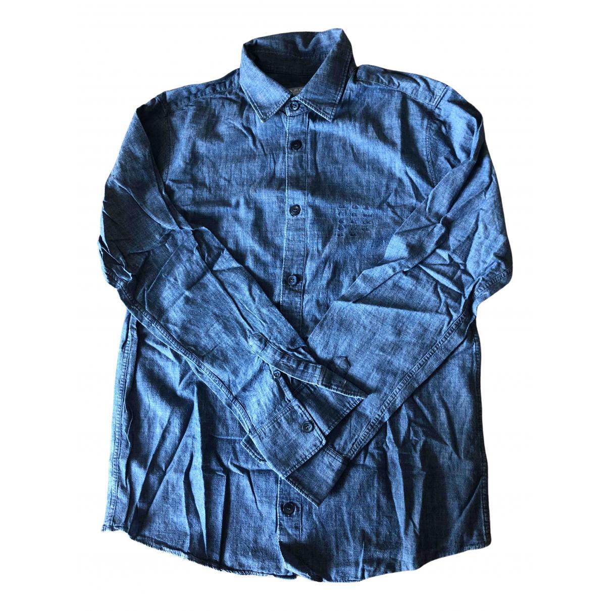 Apc - Chemises   pour homme en denim - bleu