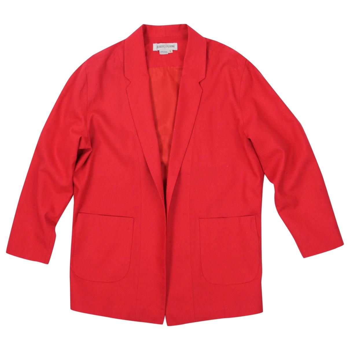 - Veste   pour femme en soie - rouge