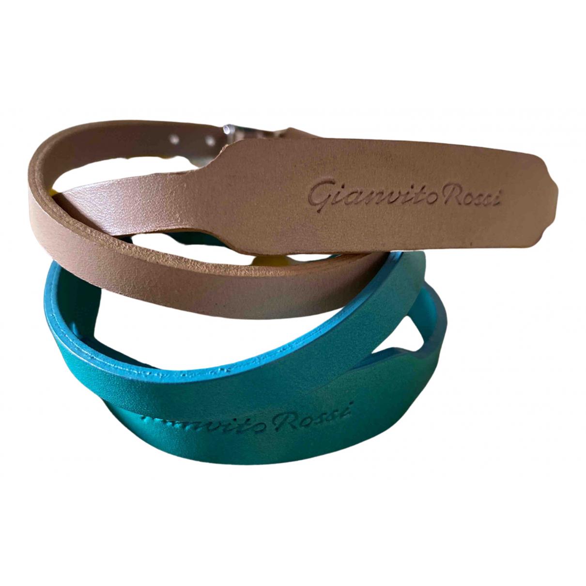 Gianvito Rossi - Bracelet   pour femme en cuir - multicolore