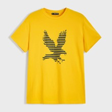 Maenner T-Shirt mit Eagle Muster