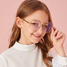 Gafas de marco de niñitos metalico redondo