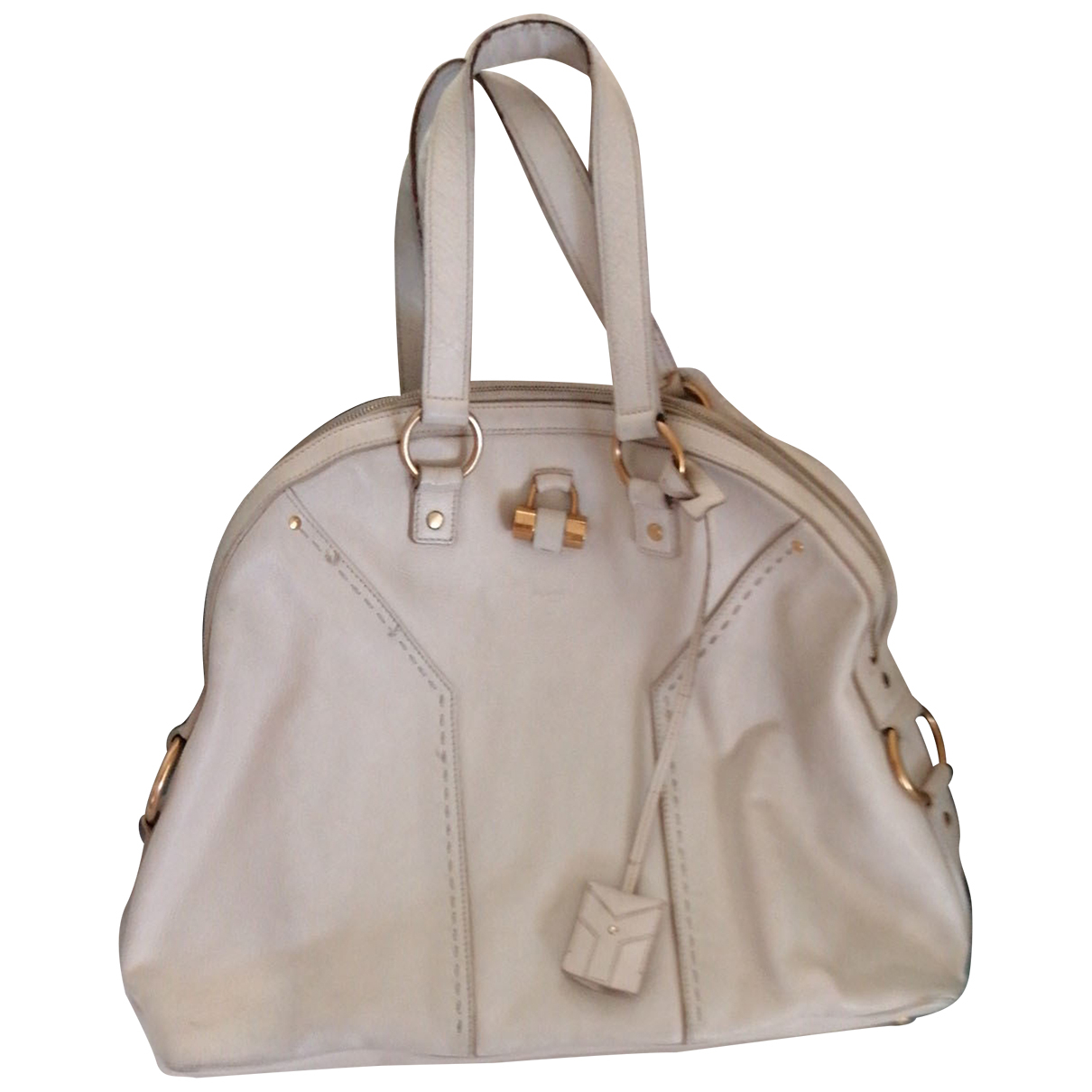 Yves Saint Laurent Muse Beige Leather handbag for Women N