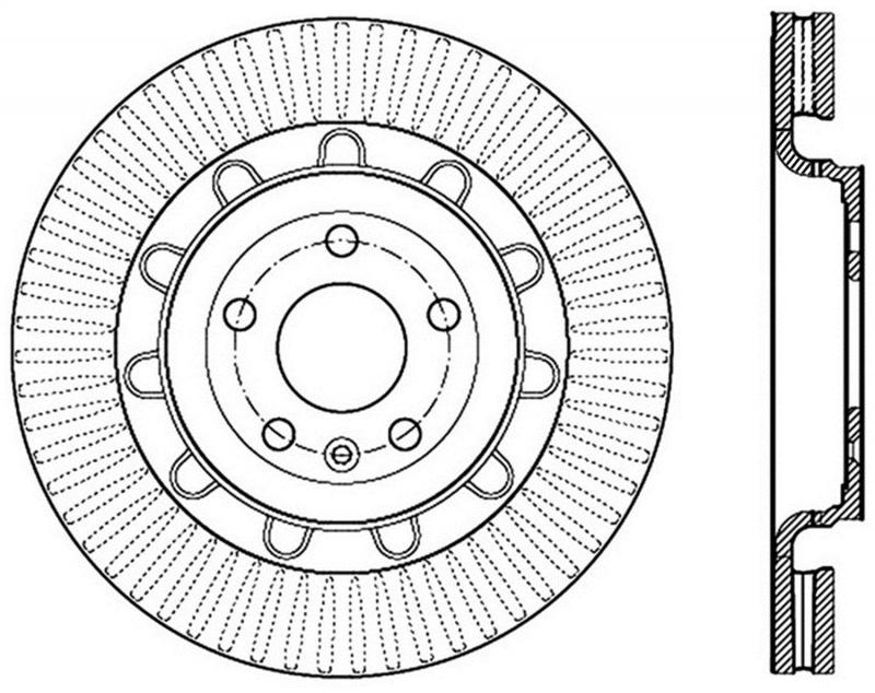 StopTech 127.65136R Sport Drilled/Slotted Brake Rotor; Front Right Front Right