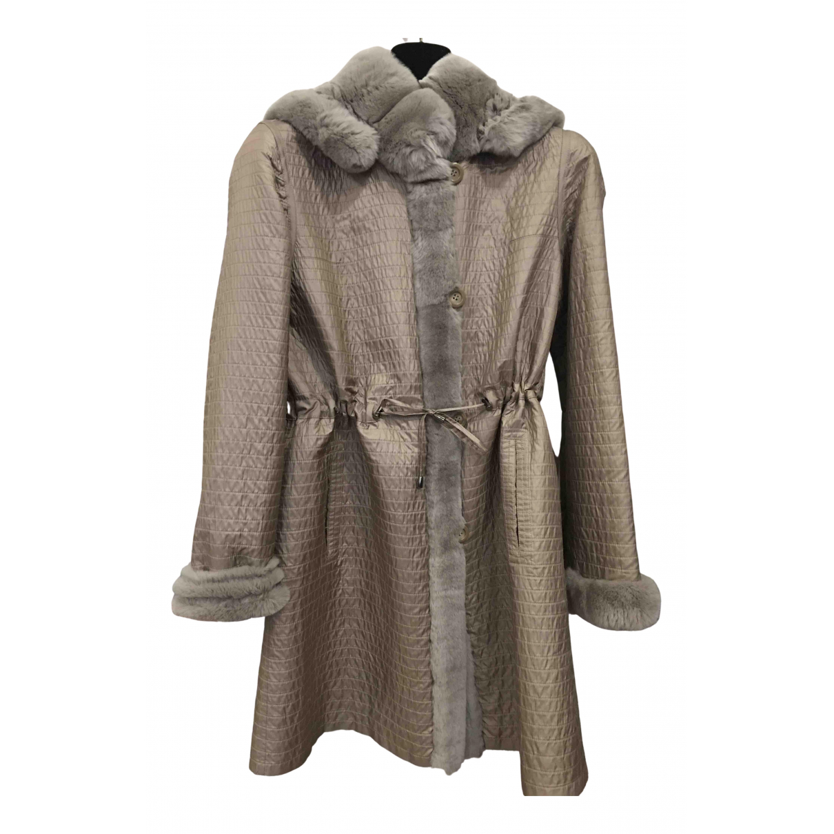 - Manteau   pour femme en lapin - beige