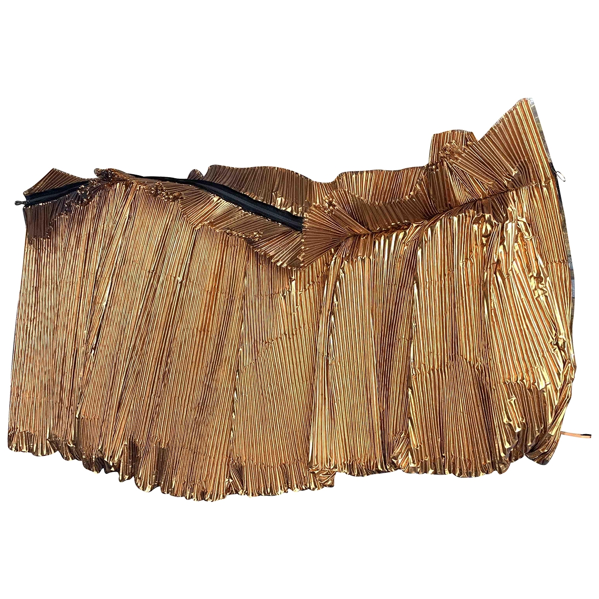 Lanvin \N Metallic Silk dress for Women 36 FR