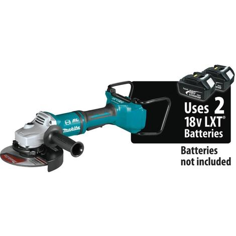 Makita 18V X2 Lxt® Lithium-Ion (36V) Brushless Cordless 7# Paddle Switch Cut-Off/Angle Grinder, with Electric Brake, Tool Only