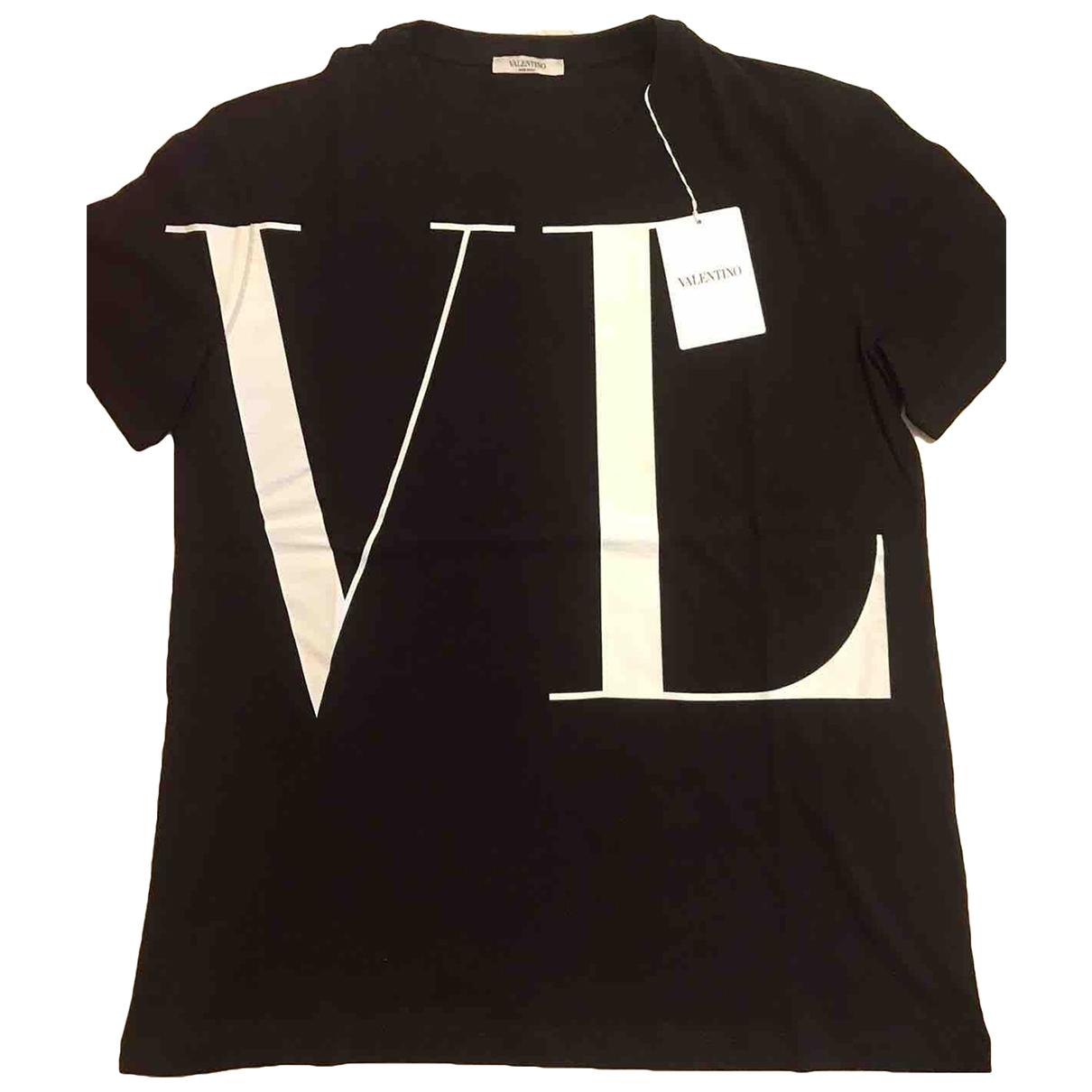 Valentino Garavani \N Black Cotton T-shirts for Men M International