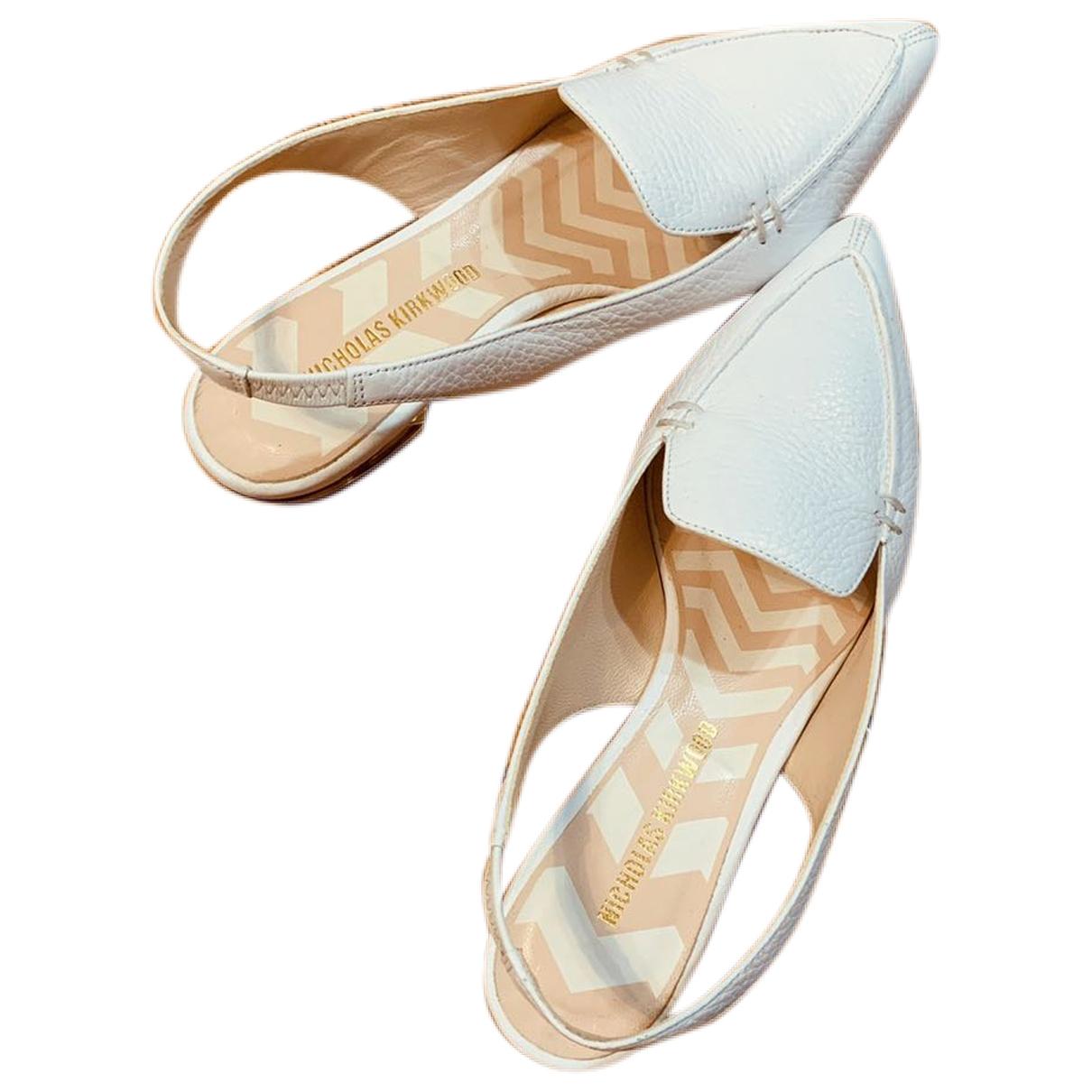 Nicholas Kirkwood \N White Leather Sandals for Women 6.5 US