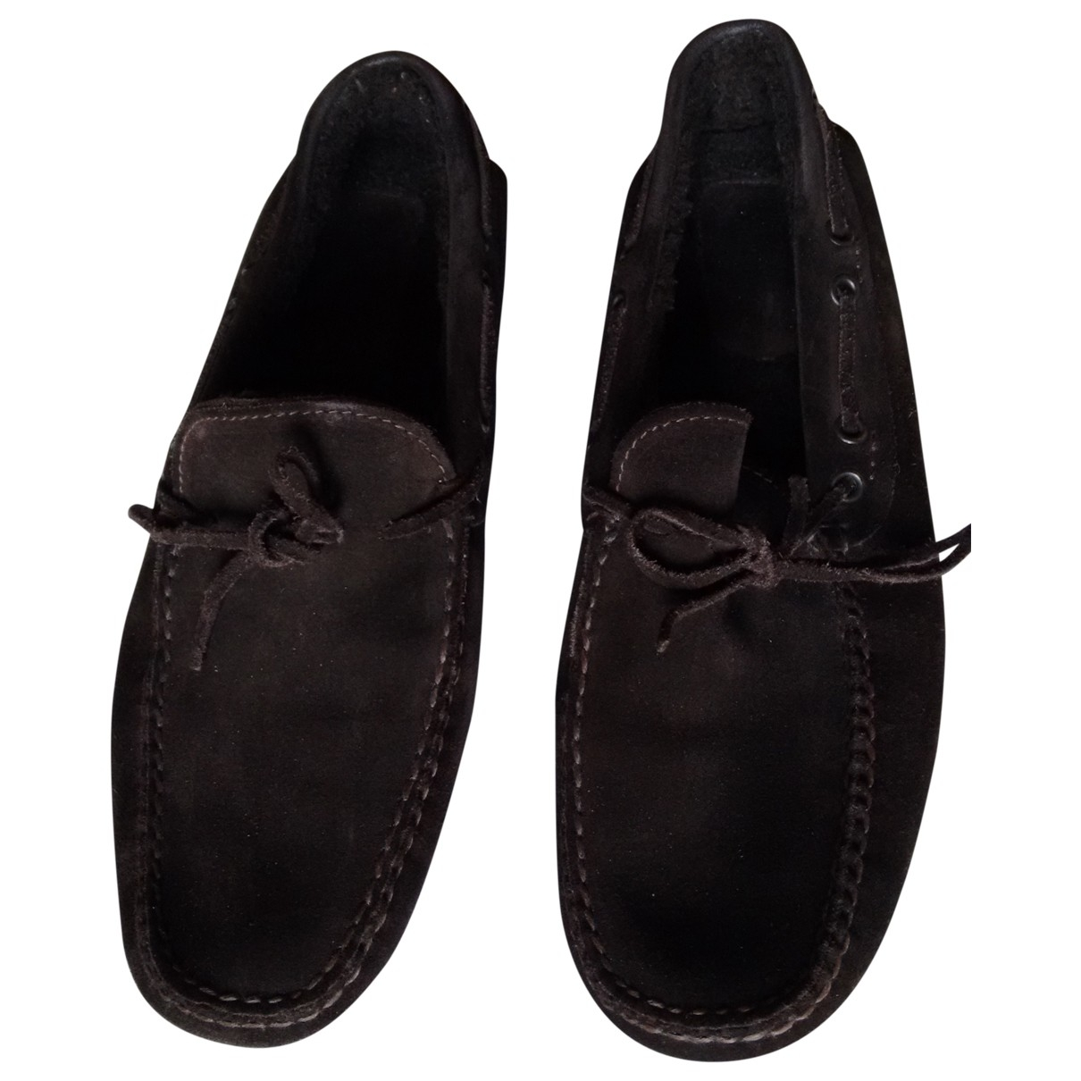 Non Signé / Unsigned \N Brown Suede Flats for Men 8 US