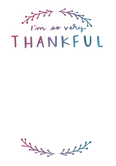 Thank You Cards 3.5x5 Flat Notecard, Card & Stationery -Thankful