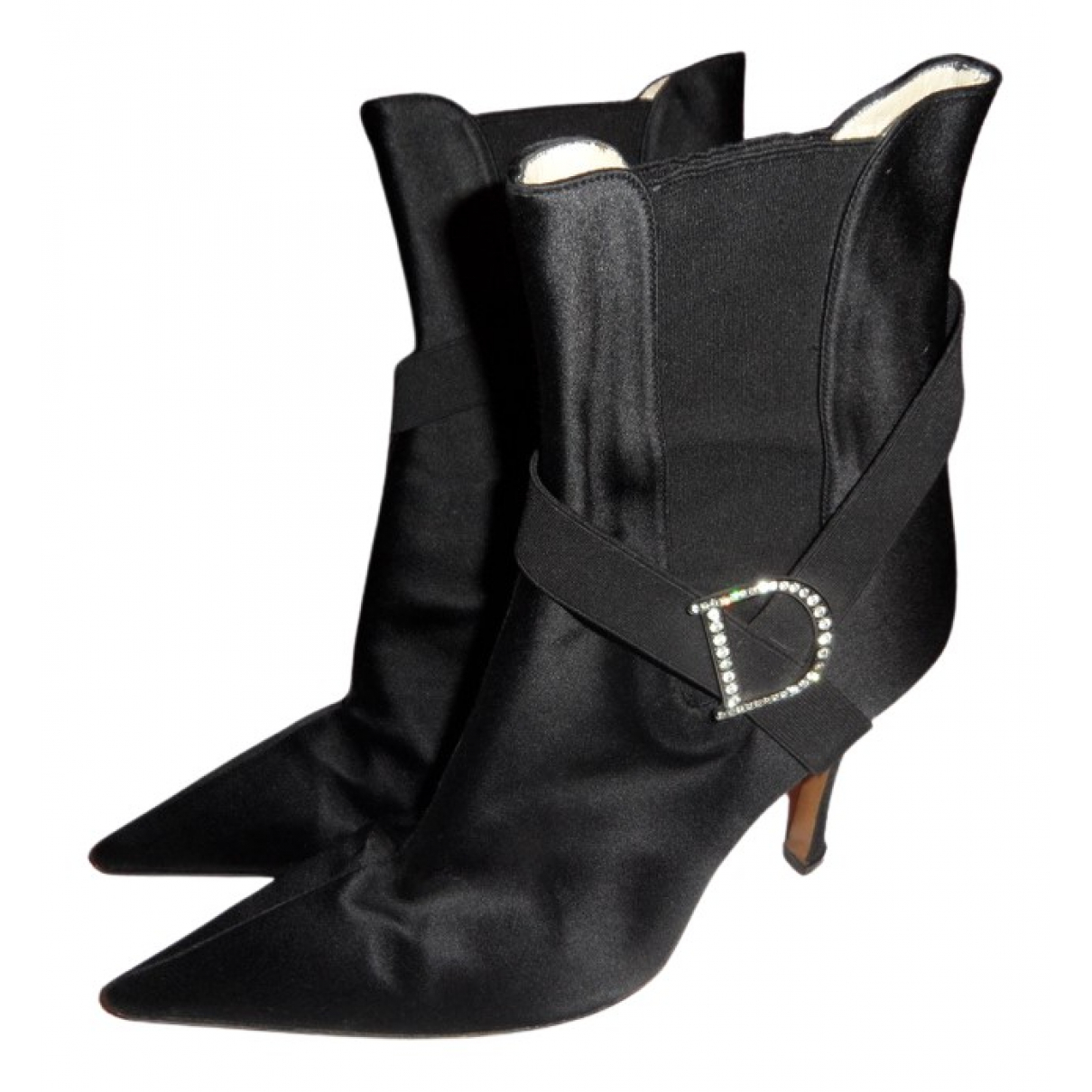 Dior N Black Cloth Ankle boots for Women 38 EU