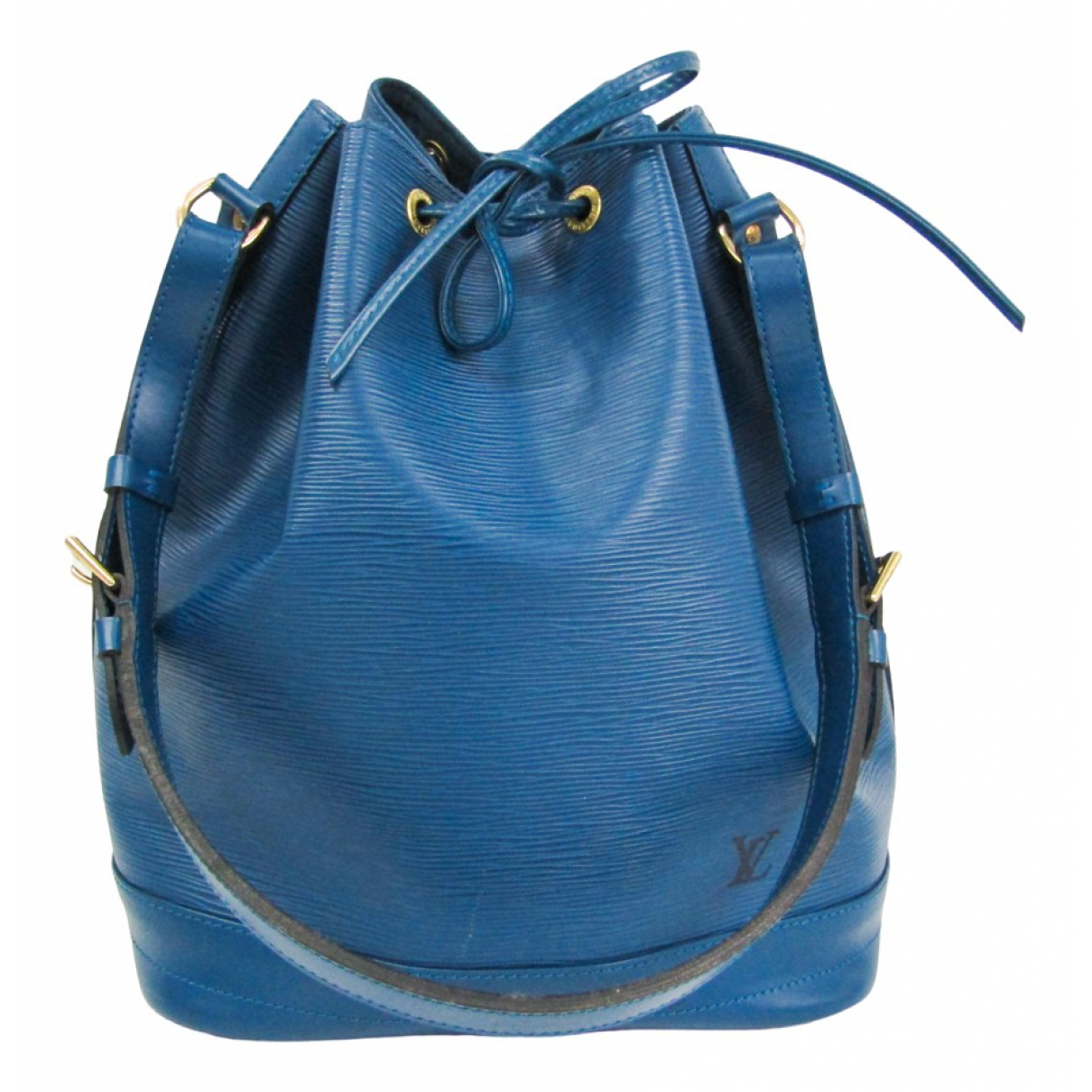 Louis Vuitton Noé Blue Leather handbag for Women N