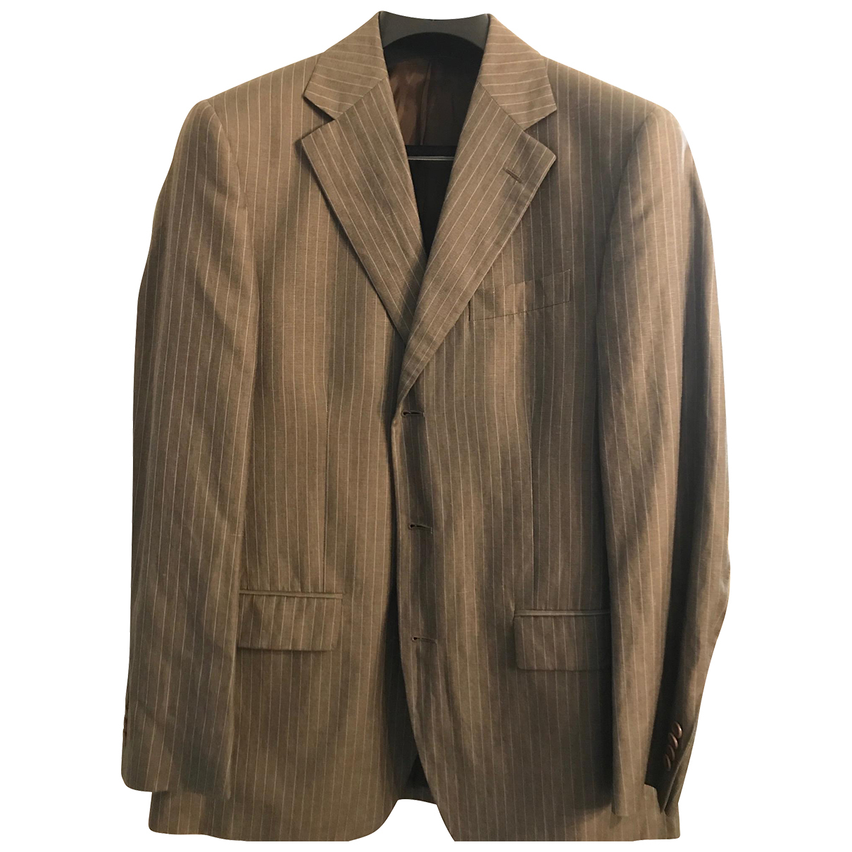 Faconnable \N Brown Wool Suits for Men 48 IT