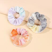 3 Stuecke Scrunchie mit Batik Muster