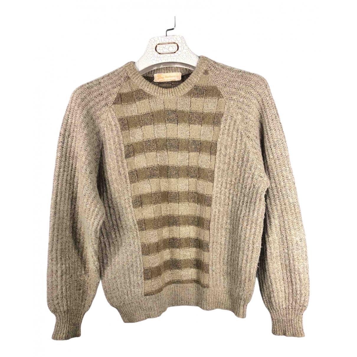 Burberry \N Pullover.Westen.Sweatshirts  in  Khaki Wolle