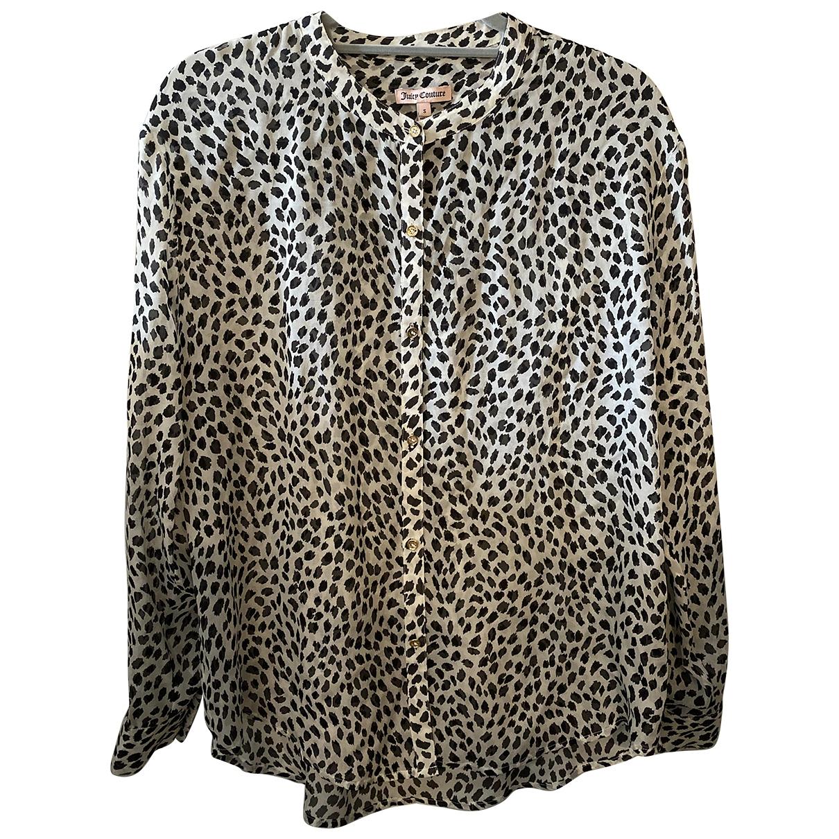 Juicy Couture - Top   pour femme en soie - blanc