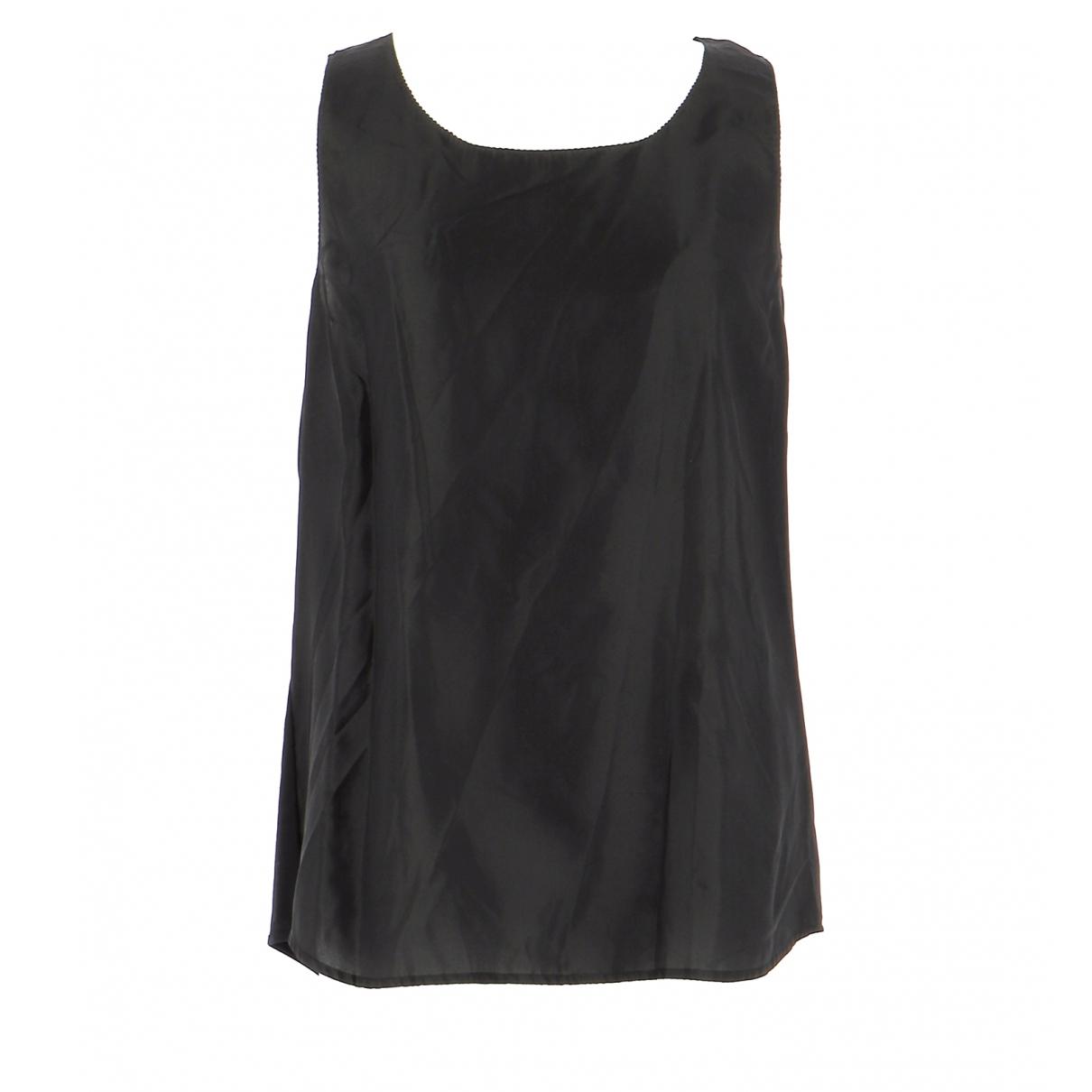 Twin Set N Black Silk  top for Women 40 FR