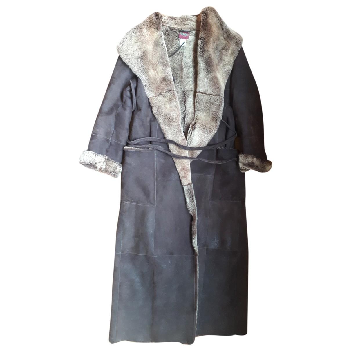 Kenzo \N Brown Shearling coat for Women 42 FR