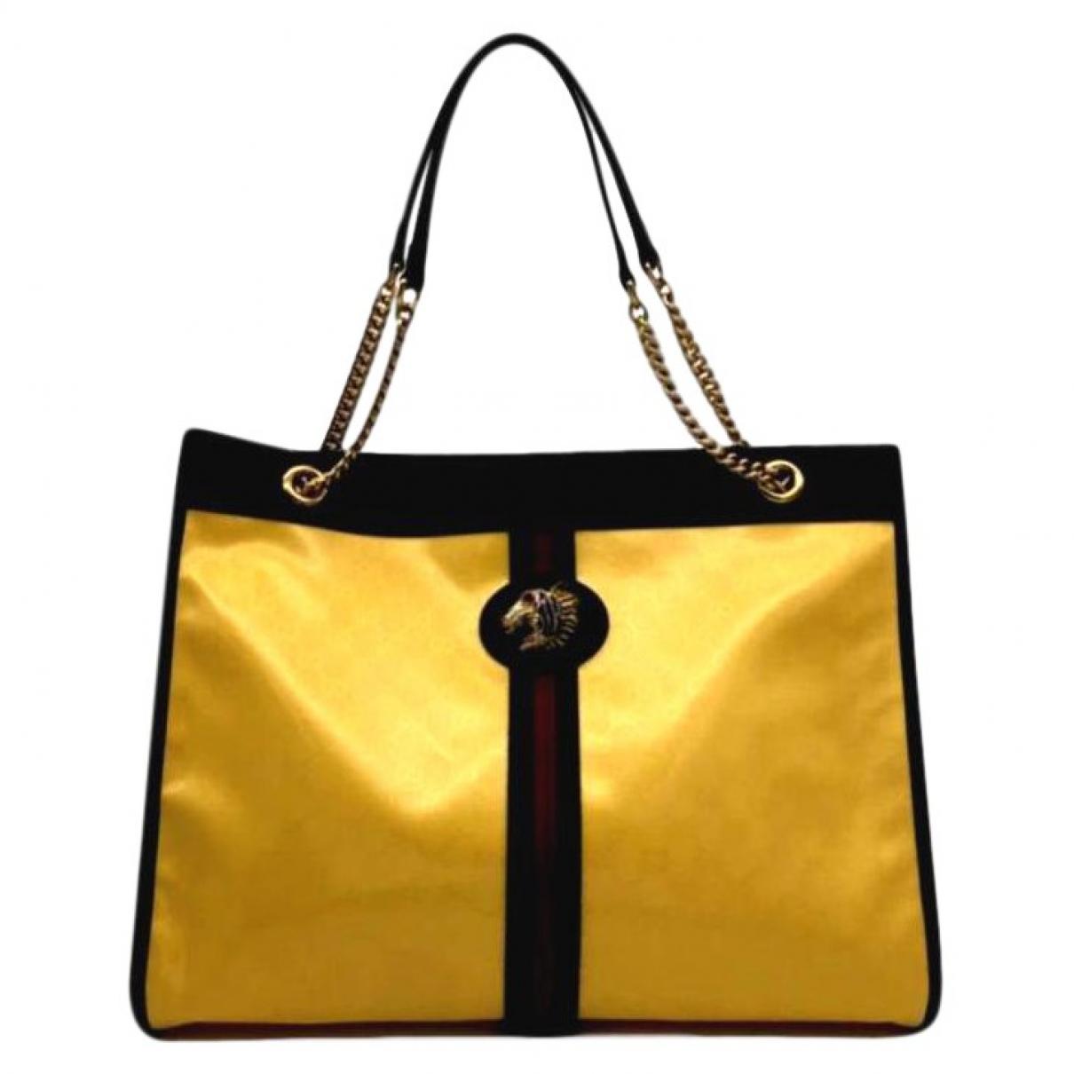 Gucci - Sac a main Rajah pour femme en toile - jaune