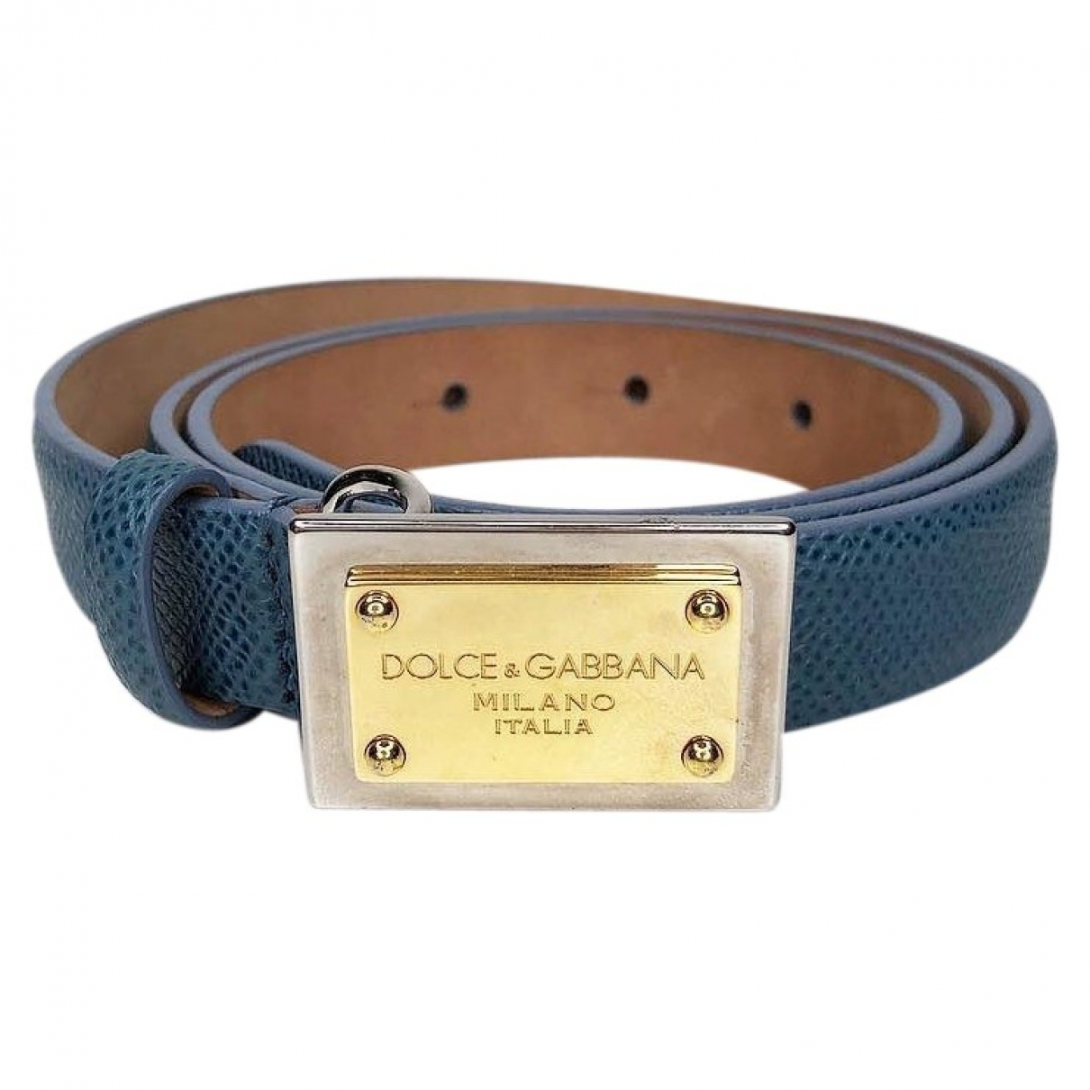 Dolce & Gabbana \N Guertel in  Marine Leder