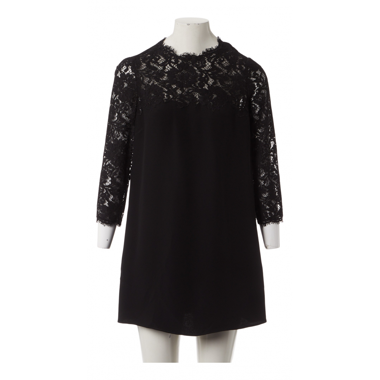 Valentino Garavani N Black Silk dress for Women 44 IT