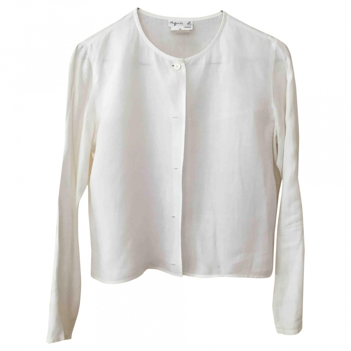 Agnès B. \N White Linen  top for Women 2 US