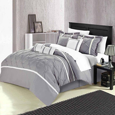 Chic Home Vermont 8-pc. Midweight Comforter Set, One Size , Gray