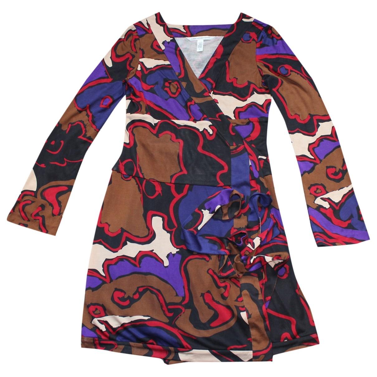 Diane Von Furstenberg \N Kleid in  Kamel Seide