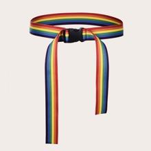Cinturon con cinta con patron de rayas
