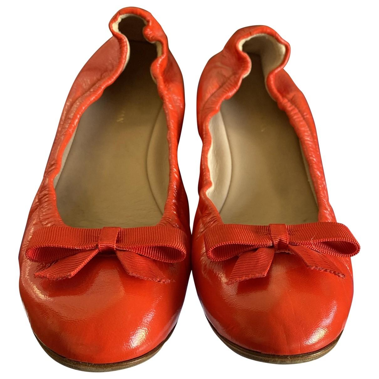 Stuart Weitzman - Ballerines   pour femme en cuir - rouge