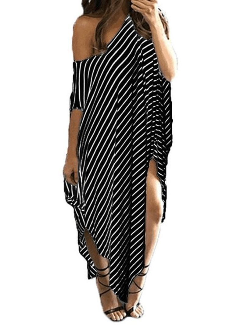 Ericdress Half Sleeve Asymmetric Ankle-Length Summer Asymmetrical Dress