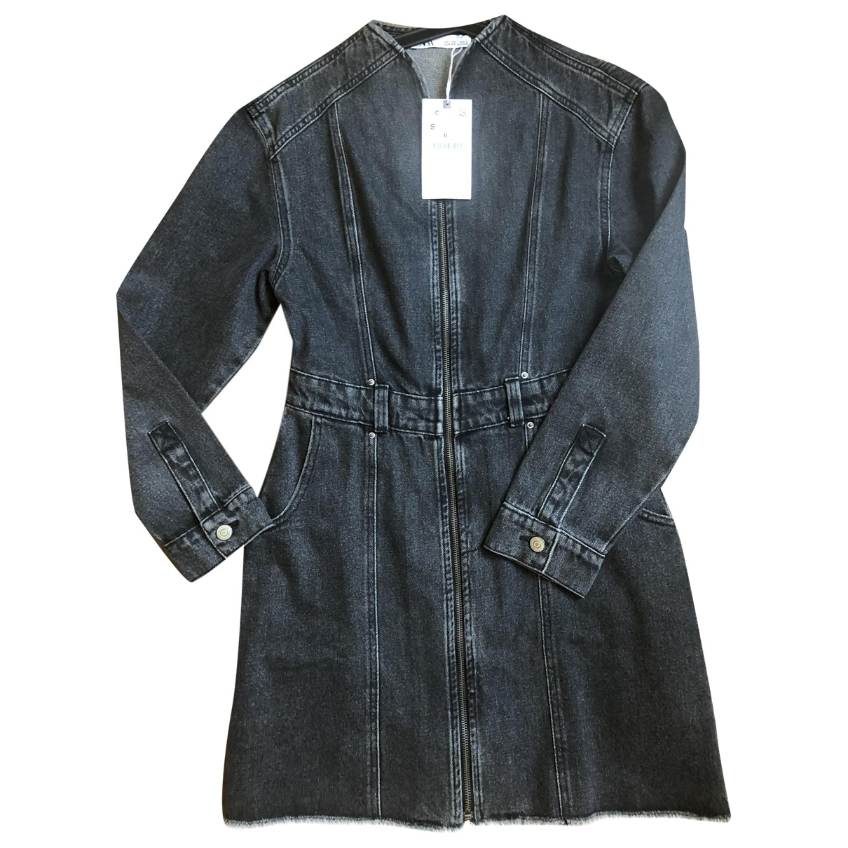 Zara \N Grey Denim - Jeans dress for Women 36 FR