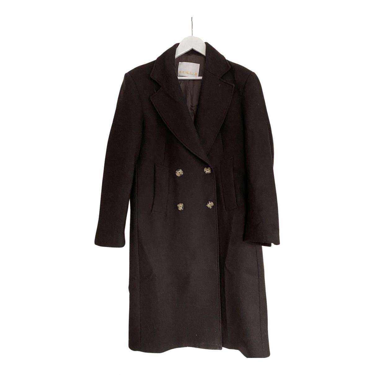 Birger Christensen - Manteau   pour femme en laine - marron