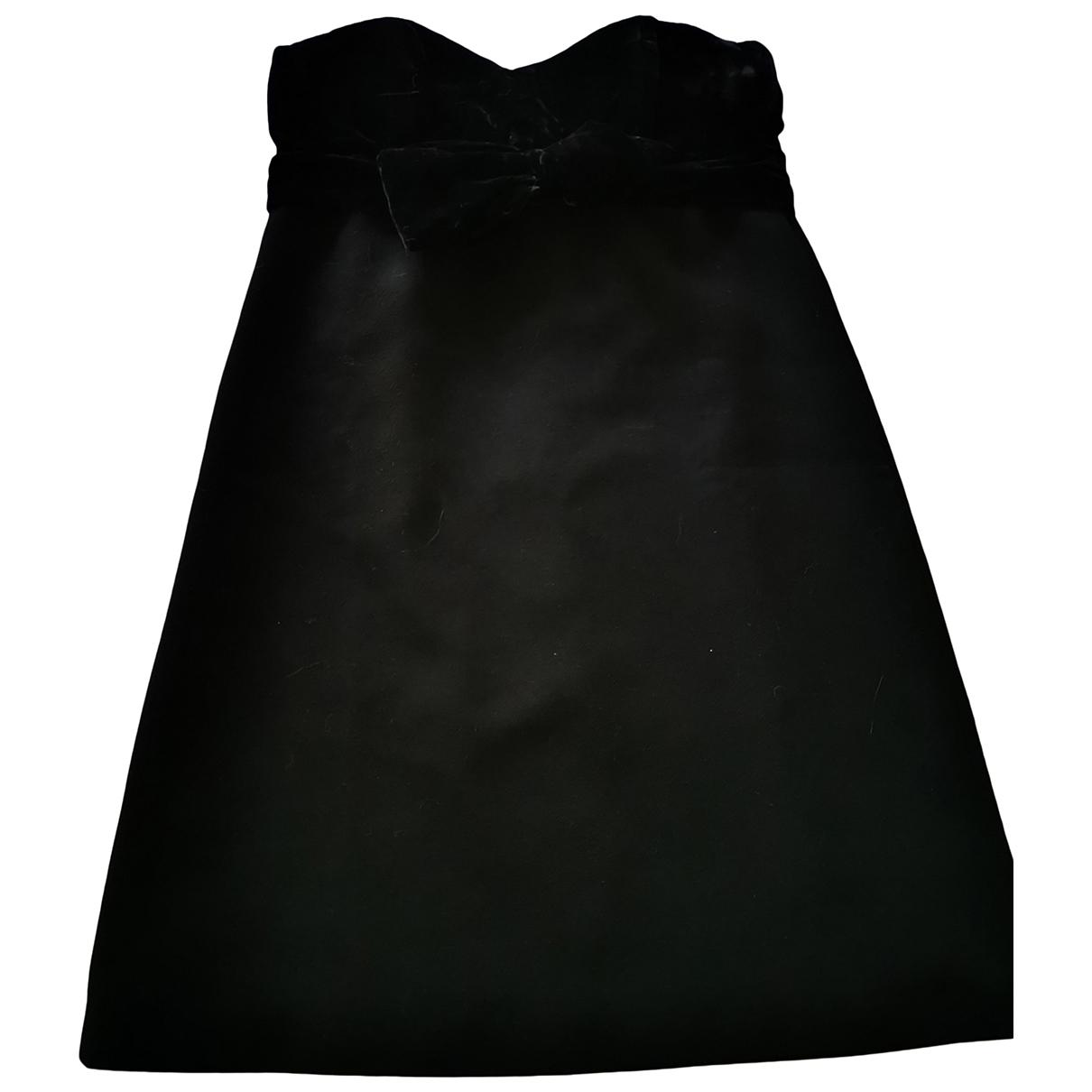Maje Fall Winter 2019 Black Velvet dress for Women 34 FR