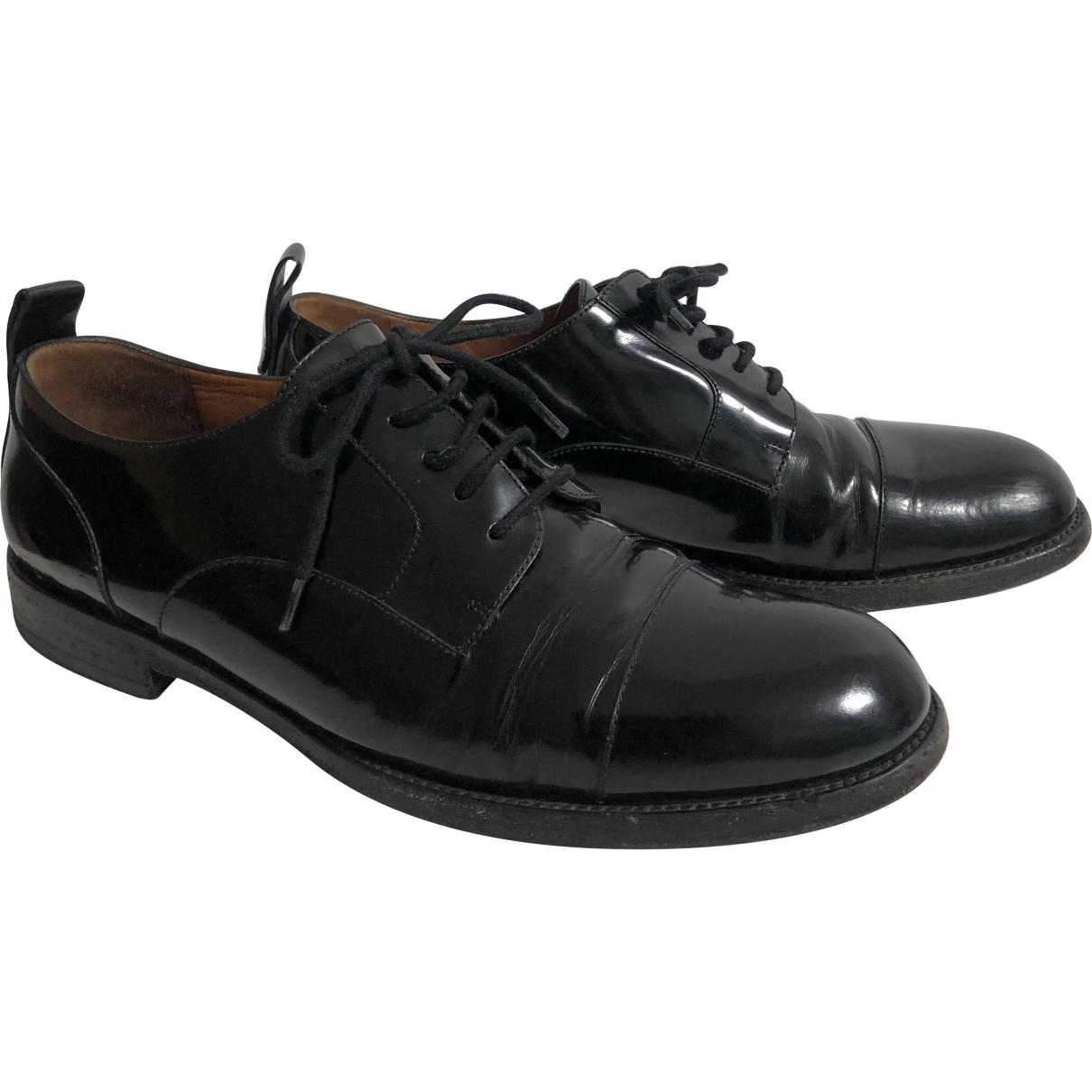Valentino Garavani \N Black Patent leather Lace ups for Women 39 EU