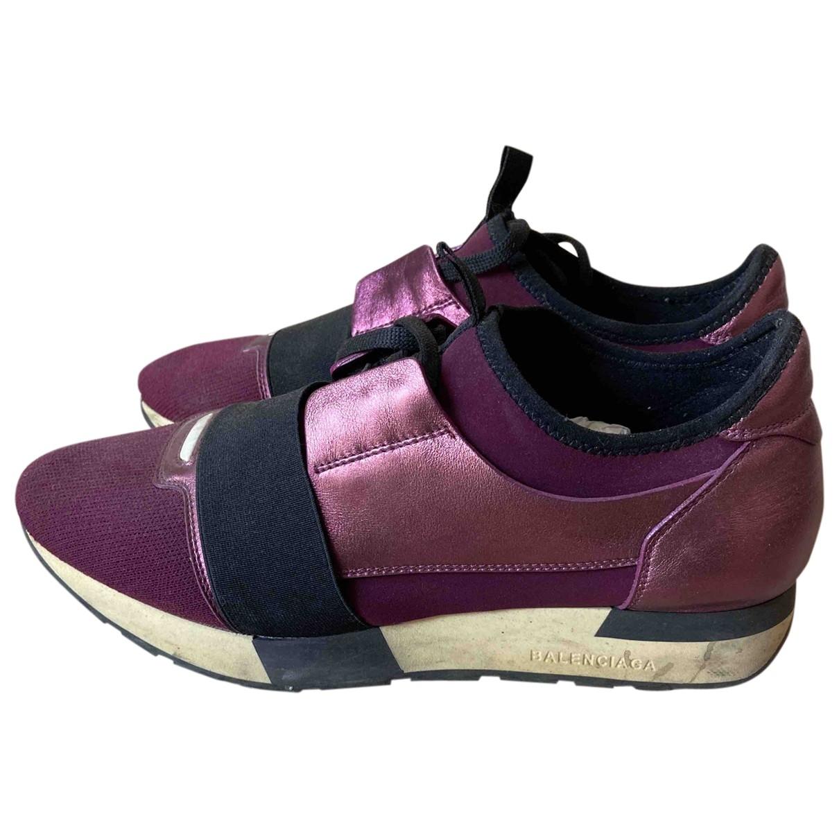 Balenciaga - Baskets Race pour femme en toile - violet