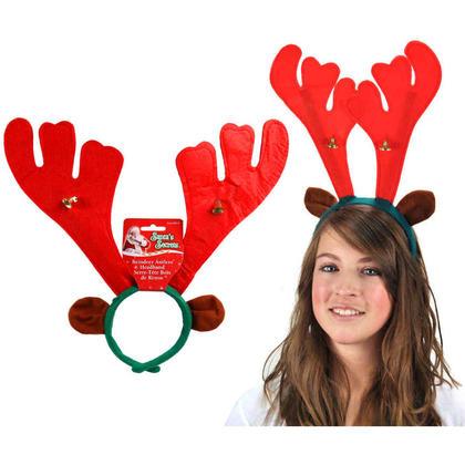 Christmas Reindeer Antlers Headband with 2 Bells 15