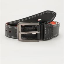 Men Metal Buckle Stitching Belt