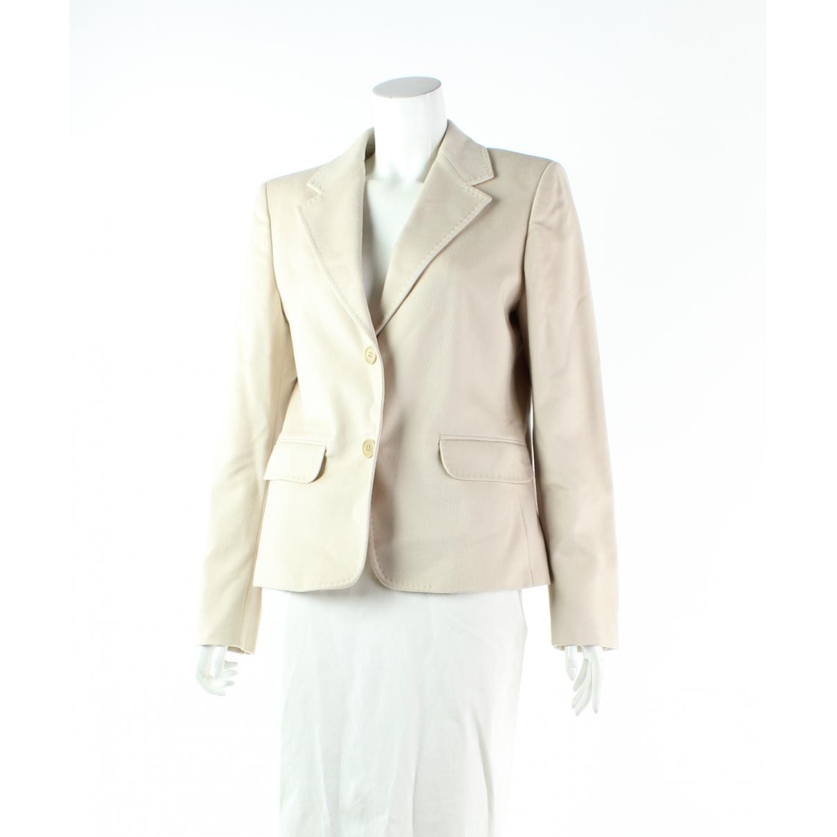 Max Mara N Beige Wool jacket for Women 12 US