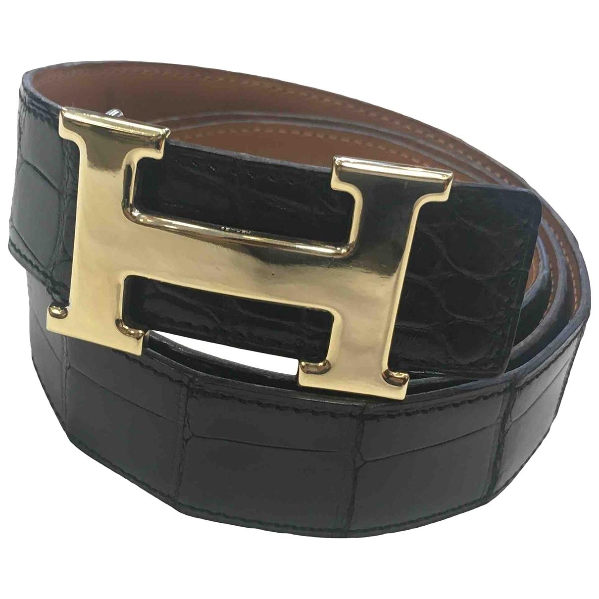 Cinturon H de Cocodrilo Hermes