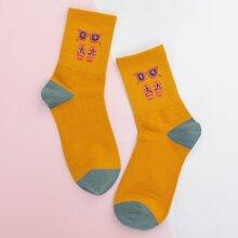 Socken mit Sonnenbrille Muster