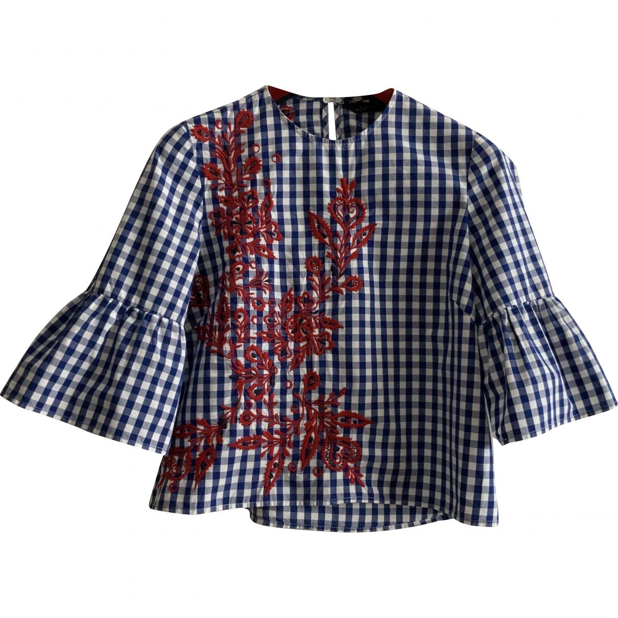 Zara \N Top in  Blau Baumwolle