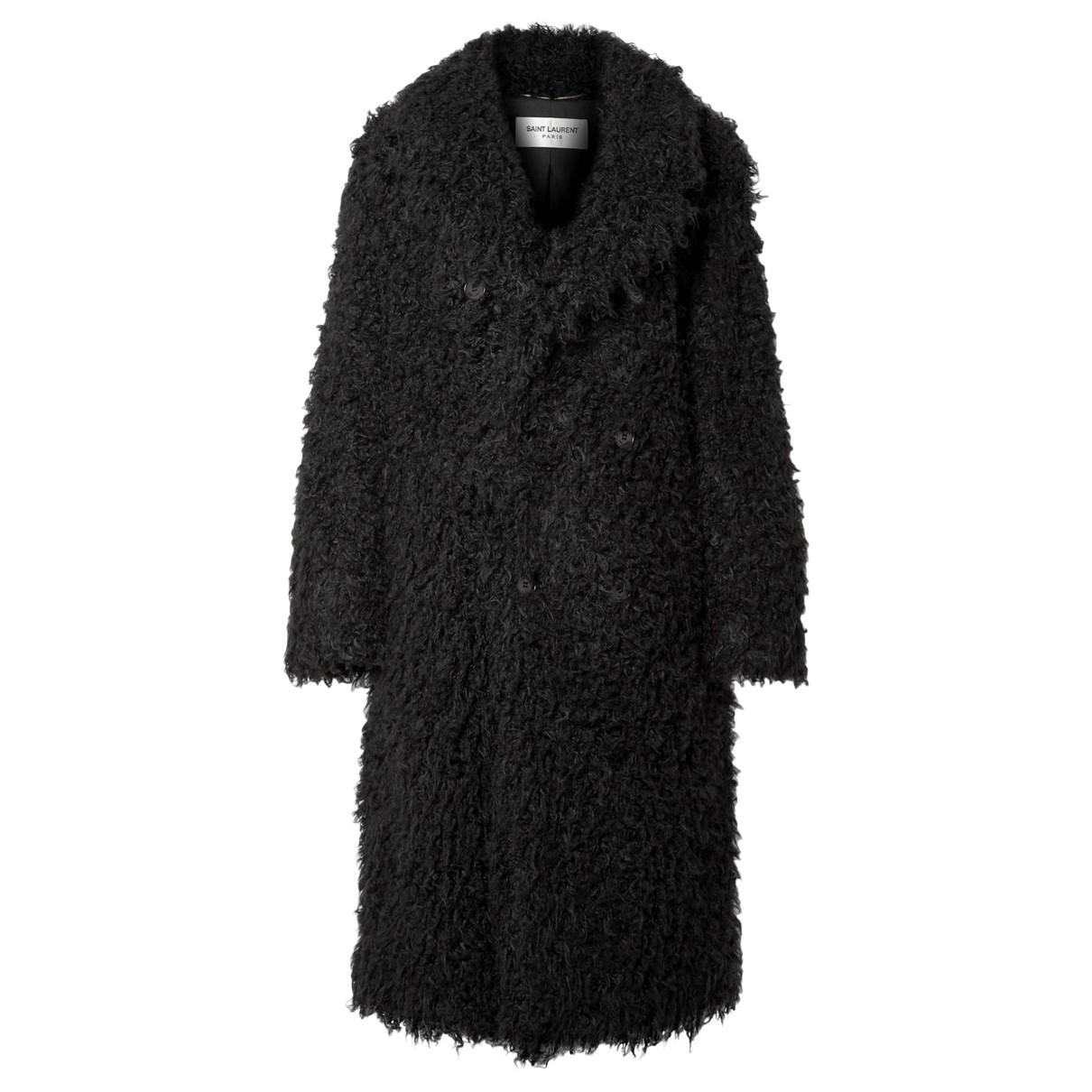 Saint Laurent N Black Faux fur coat for Women 42 FR