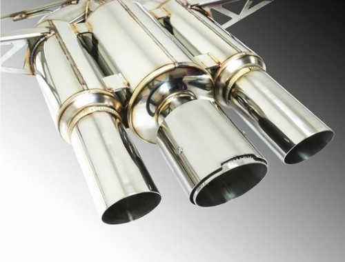 Remark RK-C3076H-01R Spec III Resonated Triple Tip Catback Exhaust with Stainless Steel Tip Cover Honda Civic Type-R 17-19