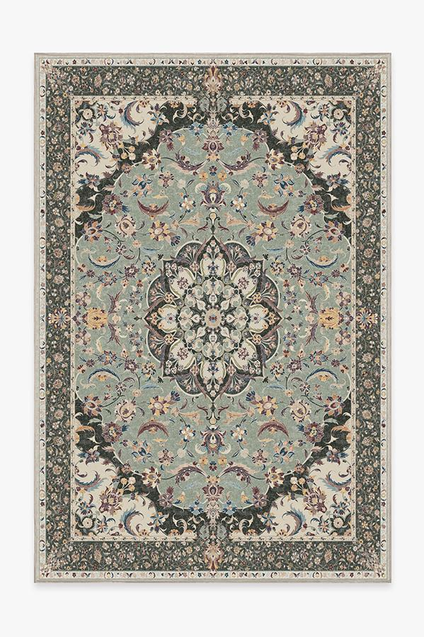 Washable Rug Cover | Sima Sage Rug | Stain-Resistant | Ruggable | 6'x9'