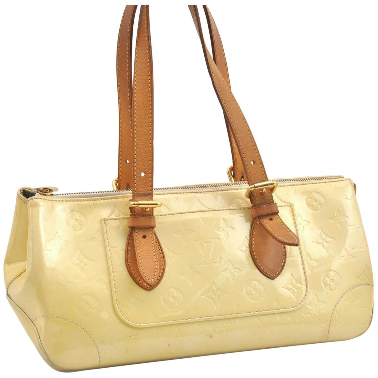 Louis Vuitton N Yellow Patent leather handbag for Women N