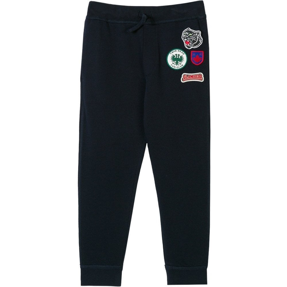 Dsquared2 Kids Badge Joggers Navy Colour: NAVY, Size: 6 YEARS