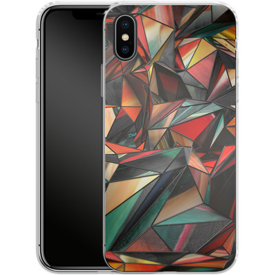 Apple iPhone X Silikon Handyhuelle - Dirty Triangles von Danny Ivan