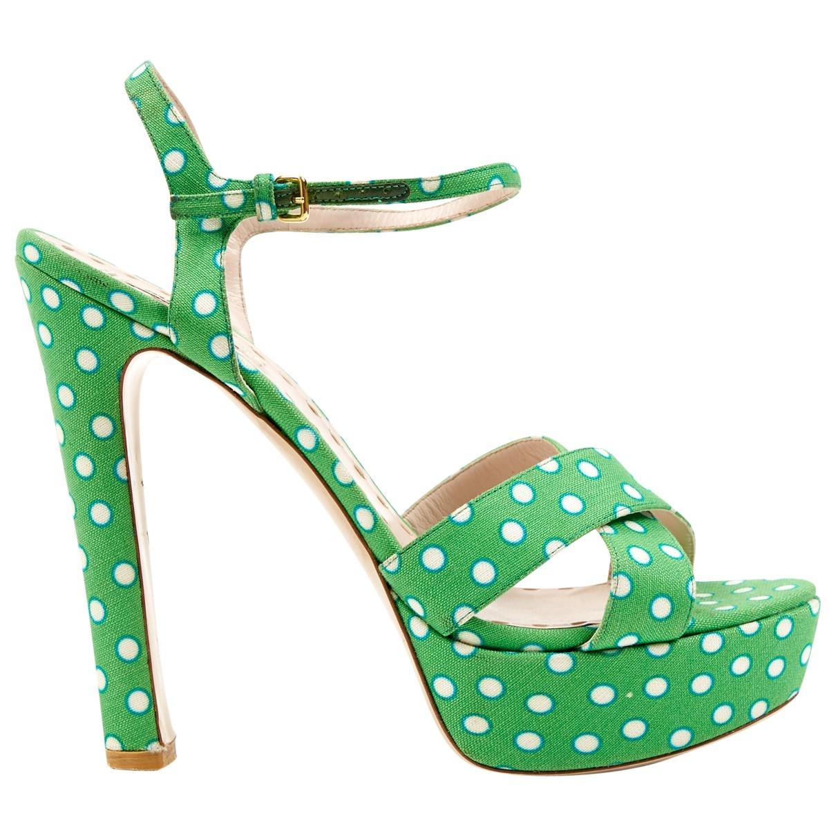 Miu Miu \N Green Cloth Heels for Women 42 EU