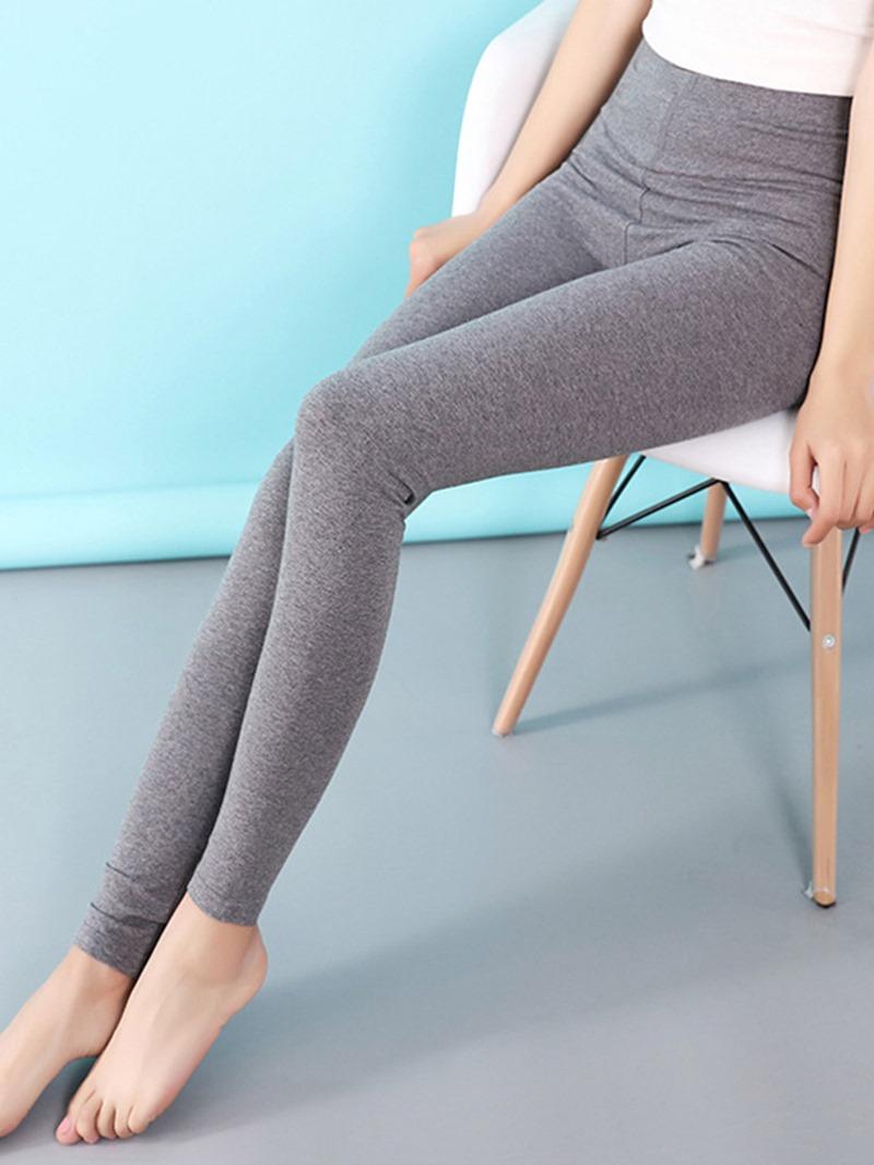 Ericdress High-Waist Plain Stretchy Women's Basic Leggings